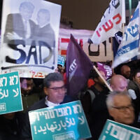 An anti-peace plan rally in Tel Aviv. Joshua Mitnick/JW