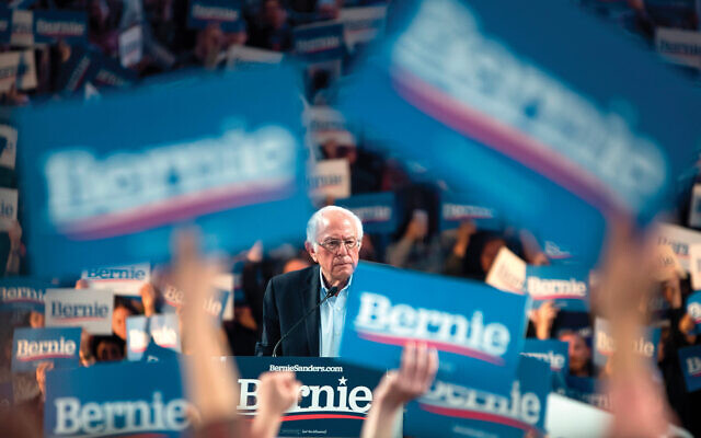Bernie Sanders at the University of Houston on Sunday. Texas  is a delegate-rich state that is part of Super Tuesday voting. Getty Images