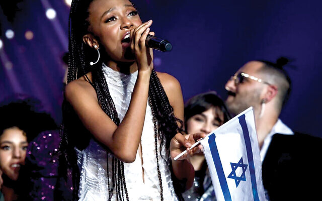 "Eden Alene sings last week in the finals of the Israeli reality show ""The Next Star."" Shlomi Cohen/Flash90"