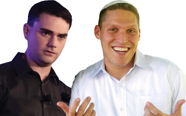 Ben Shapiro, left, and Rabbi Shmuly Yanklowitz, right, to face off.  Yanklowitz: Twitter | Ben Shapiro: Wikimedia Commons