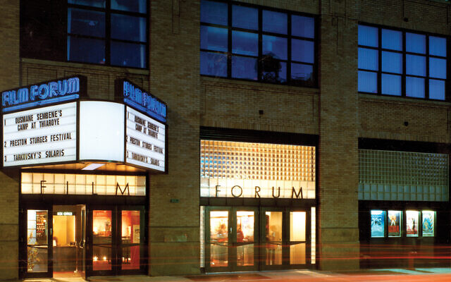 "The ""new"" Film Forum on West Houston Street. ""I'm very concerned with issues of culture and history and justice,"" says longtime Film Forum director Karen Cooper. Peter Aaron"