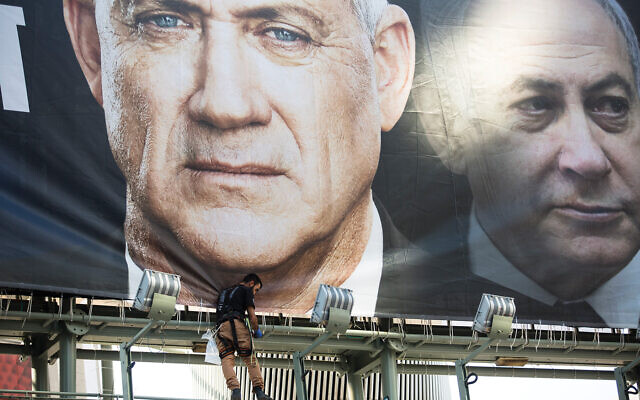 "A campaign poster showing Blue and White leader Benny Gantz and Prime Minister Benjamin Netanyahu. ""I don't know one person who is changing their vote from the last time,"" says an observer. It could point to the surreal possibility of a fourth election. Getty Images"