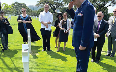 From Latin Cross to Jewish star: An Operation Benjamin ceremony Feb. 12 at the Manilla American Cemetery. Photos courtesy of American Battle Monuments Commission