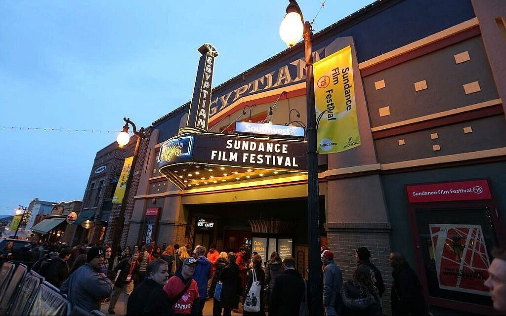 The Egyptian marquee. (2015 Sundance Institute | Photo by Jemal Countess via Times of Israel)
