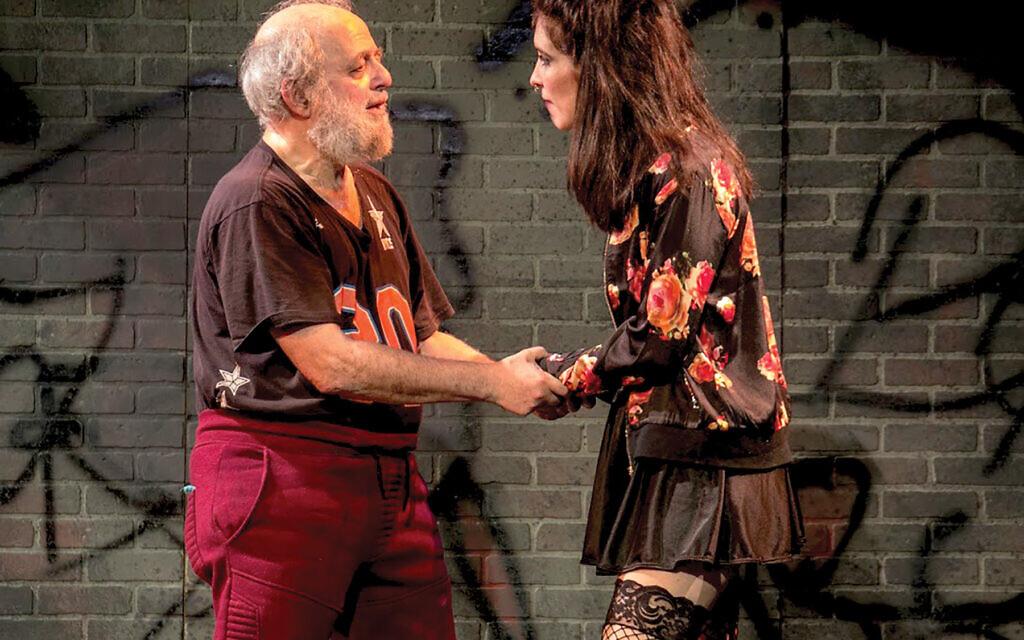 David Mandelbaum and Malky Goldman in Hanoch Levin's play. Photos by Slavka Zaitsev