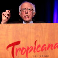 U.S. Senator Bernie Sanders speaks at the Clark County Democratic Party's 2020 Kick Off to Caucus Gala at the Tropicana Las Vegas in Las Vegas, Nevada, Feb. 20, 2020. (Gage Skidmore/Flickr Commons)