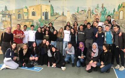 Write On students at a Israeli-Arab elementary school in Baqa Al Garbiyye.
