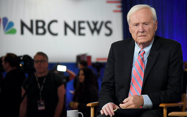 Chris Matthews of MSNBC waits to go on the air at Bally's Las Vegas Hotel & Casino after the Democratic presidential primary debate, Feb. 19, 2020. (Ethan Miller/Getty Images)