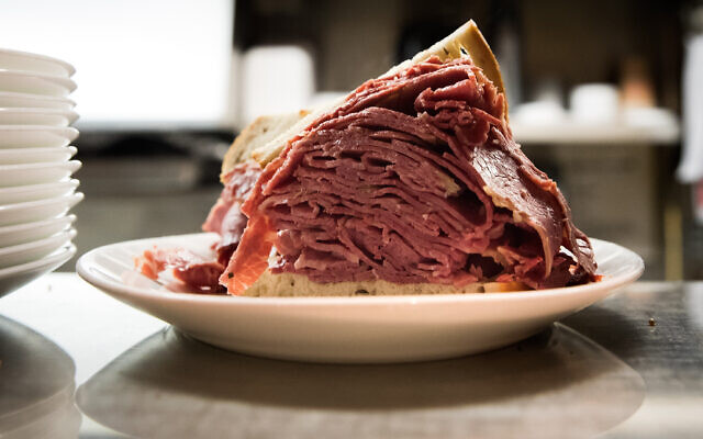 As the number of kosher and kosher-style delis dwindle, super-stuffed corned beef sandwiches like this one are becoming harder to find. Getty Images