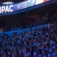 Attendees at the 2017 AIPAC conference at the Verizon Center in Washington, D.C., March 21, 2017. (Saul Loeb/AFP/Getty Images/via JTA)