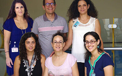 The Sheba Medical Center research team research team, with Professor Benjamin Dekel, top row center, and Dr. Orit Harari-Steinberg, to row right. Courtesy of Sheba Medical Center