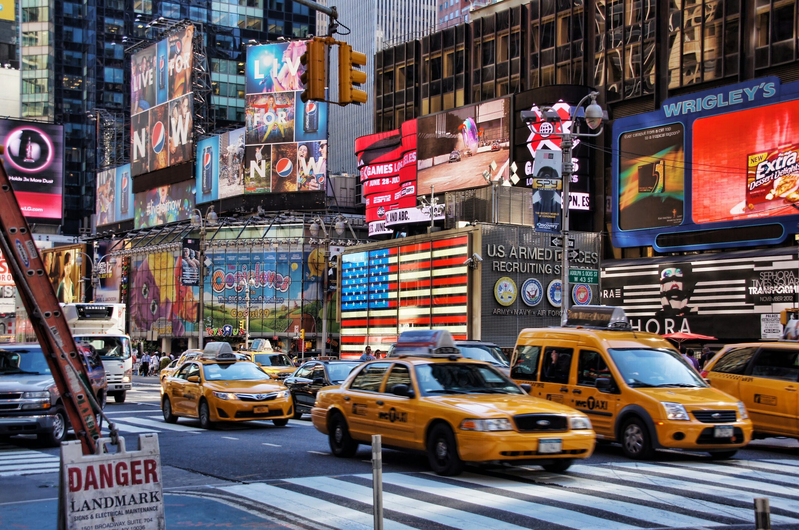 Times Square in New York City. Pxhere
