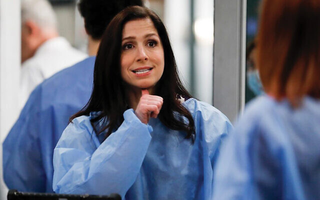 "Shoshannah Stern as Dr. Lauren Riley in ""Grey's Anatomy."" Courtesy of Disney/ABC TV"