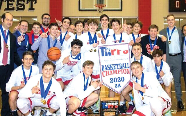 The champion Yavneh Academy Bulldogs, the first Jewish school to take a Texas state title. Twitter