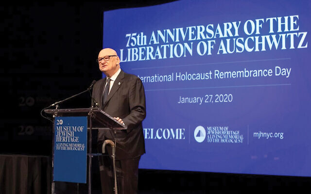 """""""We are now focusing more deeply on the lessons of history"""" to combat anti-Semitism,"""" says Jack Kliger. Courtesy of Museum of Jewish Heritage"""