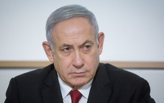 Benjamin Netanyahu, seen on Nov. 12, 2019, is the first sitting Israeli prime minister to be indicted. (Miriam Alster/Flash90/via JTA)