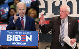 Joe Biden and Bernie Sanders are dividing many Jewish voters along generational lines. Photos by Getty Images