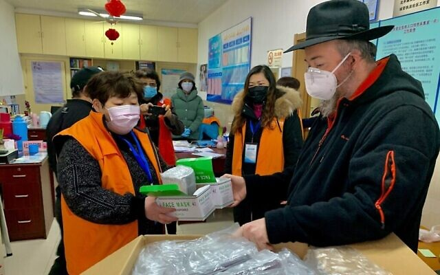 Chabad of Shanghai's mask drive was aided by fundraisers across the globe. (Courtesy Chabad Shanghai)