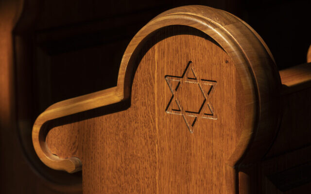 Keeping the synagogue pews empty temporarily is seen as one way to stop the spread of COVID-19. (Getty Images/via JTA)