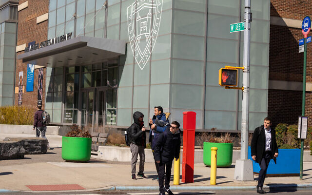 Yeshiva University said in a statement that all classes were canceled after one of its students tested positive for Covid-19 on March 4, 2020 in New York City.  David Dee Delgado/Getty Images