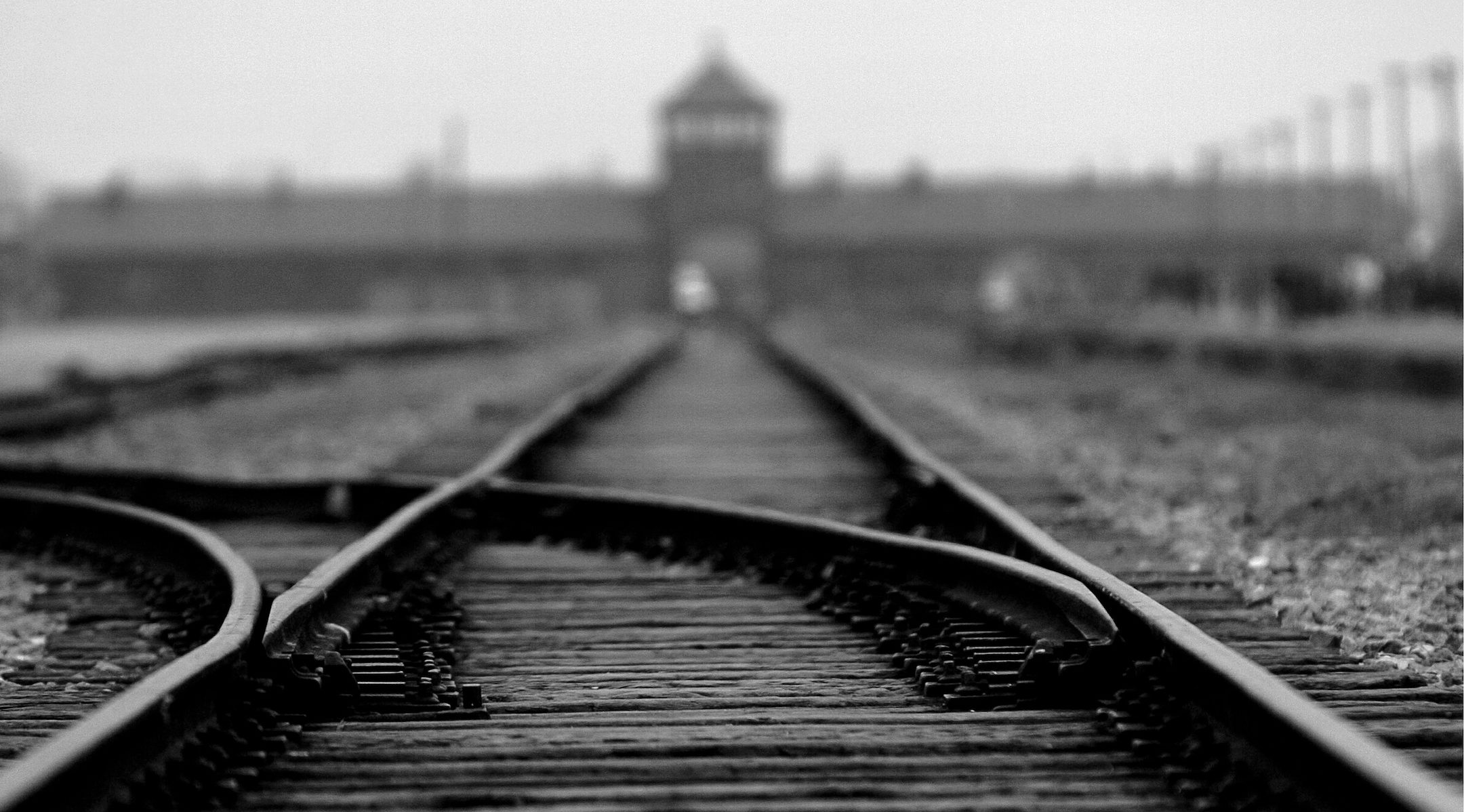 A view from outside the former death camp Auschwitz-Birkenau in Poland (Alexandre Marchi/Gamma-Rapho via Getty Images/via JTA)