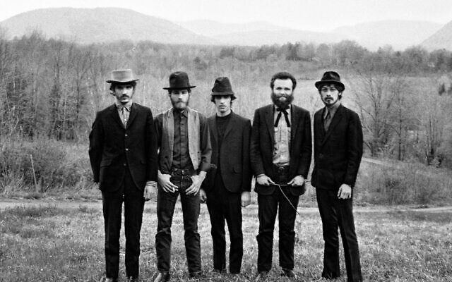 The Band, from left Rick Danko, Levon Helm, Richard Manuel, Garth Hudson and Robbie Robertson, near Woodstock, N.Y. IFC Center/Elliot Landy