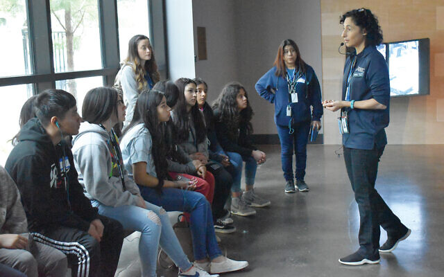 Students from the George I. Sanchez Charter school in Houston tour the Holocaust museum there. Courtesy Houston Holocaust Museum