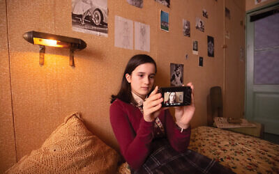 """Luna Cruz Perez, as the iconic diarist in a scene from """"Anne Frank Video Diary.""""Photos by Anne Frank House/Ray van der Bas"""