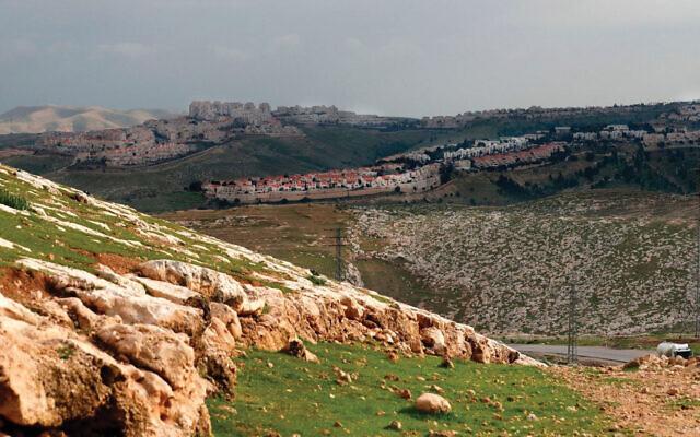 The Israeli settlement of Maale Adumim. (Ahamd Gharabli/AFP via Getty Images)