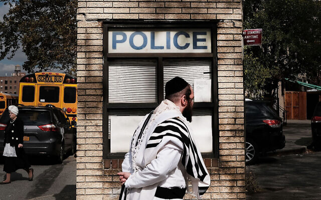 Anti-Semitic incidents in Orthodox areas of New York rose in the months before the Anti-Defamation League conducted its survey. (Spencer Platt/Getty Images/via JTA)