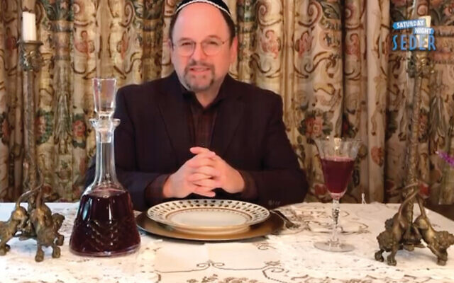 """Jason Alexander hosted """"Saturday Night Seder,"""" shown on YouTube on April 11, 2020."""