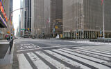 A nearly empty Sixth Avenue in Manhattan, March 22, 2020. (Dennis Fraevich/Flickr Commons)