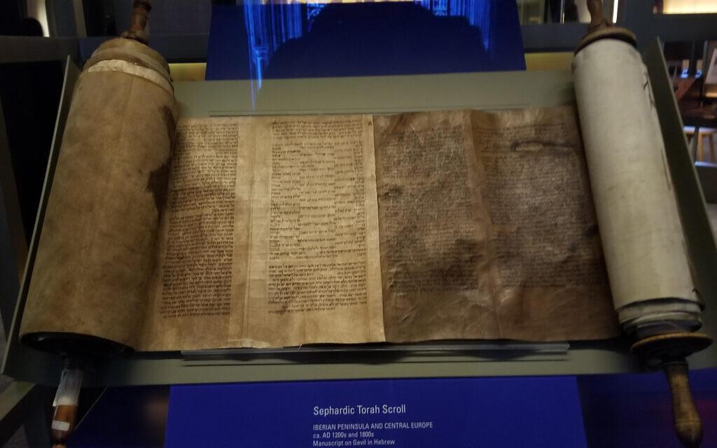 A Sephardic Torah scroll at the museum. Hella Winston/JW