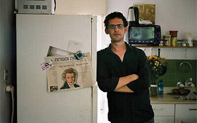 """Shtisel"" co-writer Yehonatan Indursky in his Tel Aviv apartment.  Courtesy Sam Spiegel"