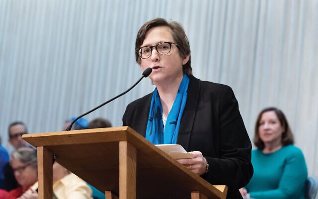 "New York Jewish Agenda co-founder Rabbi Sharon Kleinbaum: Pushing ""the mainstream liberal Jewish voice"" into the public square. CBST/Facebook"