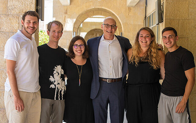Andrew Rehfeld with Year-In-Israel students at Jerusalem Campus. Huc.edu