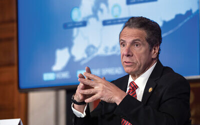 Gov. Andrew Cuomo, at a recent coronavirus briefing. Cuomo credit: Mike Groll/Office of Governor Andrew M. Cuomo