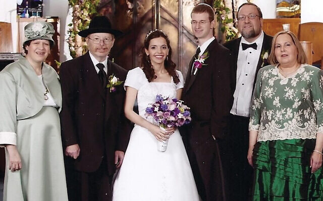 Ira Stern, second from left, at his niece's wedding.