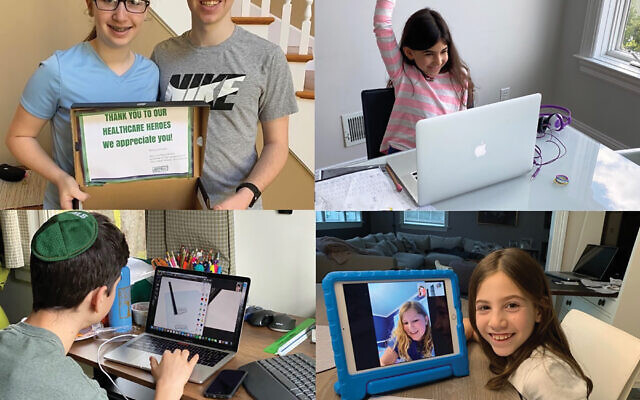 Students at the Leffel School in Westchester County learning at home. Officials are considering the need to hold classes both remotely and in the school come September. Courtesy of Leffel School