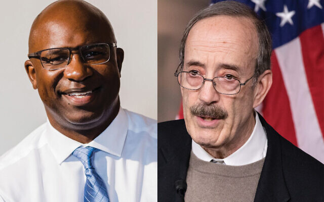 Pro-Israel stalwart Eliot Engel, right, is in fight of his political life against challenger Jamaal Bowman. Getty Images / brandnewcongress.org
