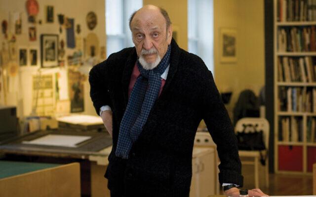 Milton Glaser in his New York studio in 2014. Neville Elder/Corbis via Getty Images