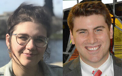 Abby Johnson, left, and Cantor Malachi Kanfer joined the staff of Sutton Place Synagogue in the midst of the coronavirus crisis. Courtesy Sutton Place Synagogue