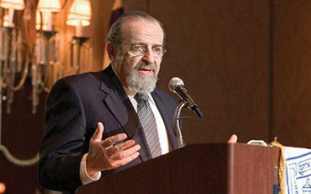 """In a world always lurching ... to the extremes, [Rabbi Lamm, above] commanded the center as an ideal life, mandated by G-d,"" Richard Joel, Rabbi Lamm's successor as YU president, wrote in an email. Lehrhaus"