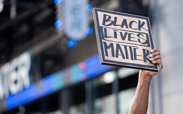 A Black Lives Matter protest in Times Square, June 7, 2020. (Anthony Quintano/Flickr Commons)
