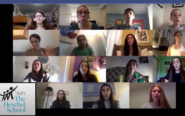 "Students from eight New York-area Jewish day schools joined together to sing the Bill Withers' classic ""Lean on Me"" as they headed into the summer after being isolated at home due to the Covid-19 pandemic. (Via YouTube)"