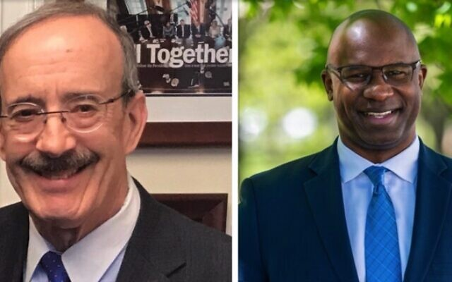 Eliot Engel, left, and Jamaal Bowman