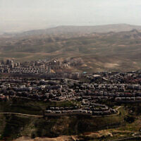The West Bank settlement of Maale Adumim. Getty Images