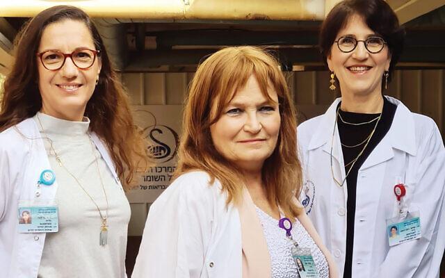 Dr. Galia Barkai, left, Prof. Galia Rahav and Prof. Gili Regev-Yochay.