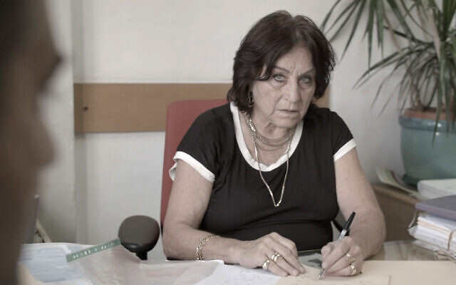 "Israeli lawyer Lea Tsemel in a scene from the documentary ""Advocate."" (Home Made Docs)"