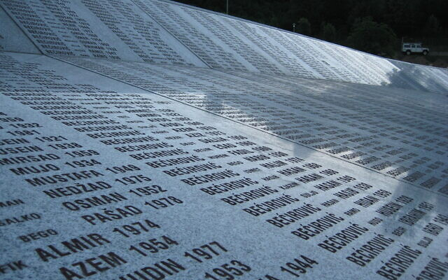 Victims of the Srebrenica massacre are remembered at a cemetery in the Bosnian town. (Flickr Commons)